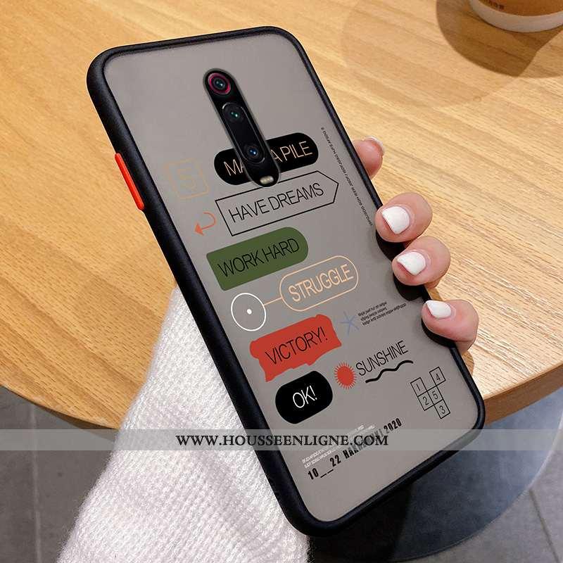 Étui Xiaomi Mi 9t Pro Légère Silicone Ultra Créatif Incassable Téléphone Portable Arc En Ciel Noir