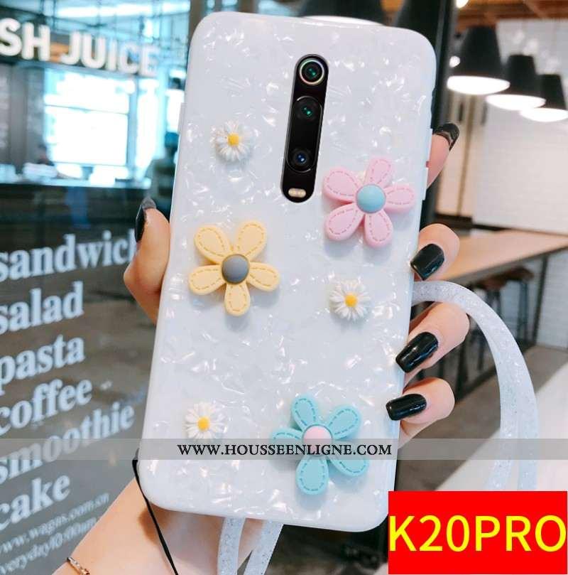 Étui Xiaomi Mi 9t Pro Protection Créatif Fleur Petit Frais Vent Blanc Blanche