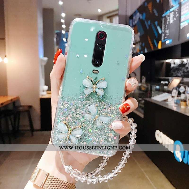 Étui Xiaomi Mi 9t Pro Silicone Protection Rose Téléphone Portable Légère Transparent Rouge Verte
