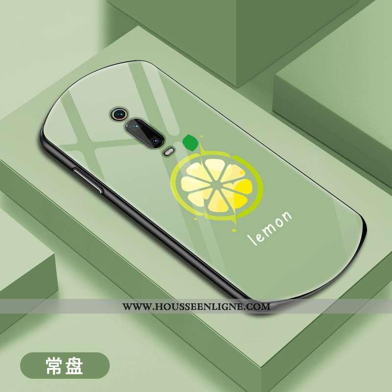 Étui Xiaomi Mi 9t Pro Verre Personnalité Incassable Téléphone Portable Protection Vert Net Rouge Ver