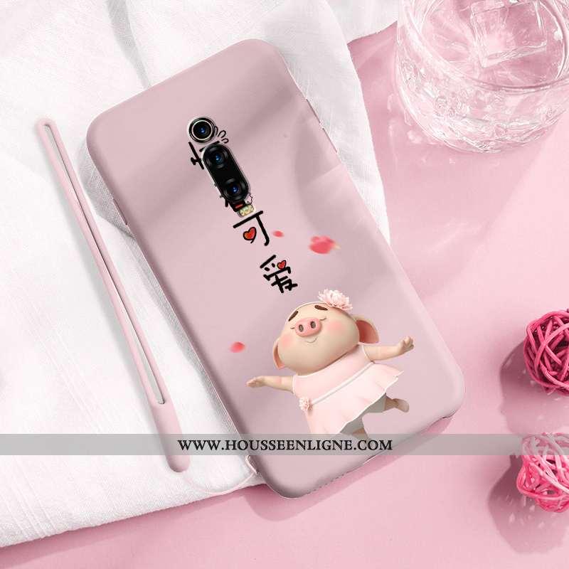 Étui Xiaomi Mi 9t Protection Personnalité Petit Ultra Téléphone Portable Créatif Coque Rose