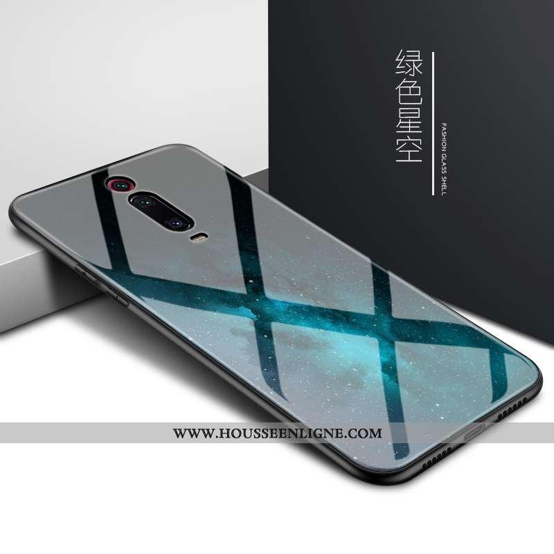 Étui Xiaomi Mi 9t Protection Verre Petit Créatif Téléphone Portable Mémorial Coque Bleu