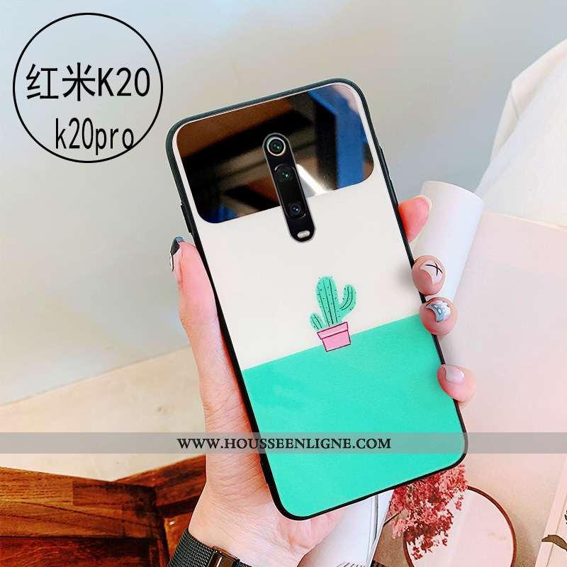 Étui Xiaomi Mi 9t Protection Verre Vert Téléphone Portable Personnalité Maquillage Coque Verte