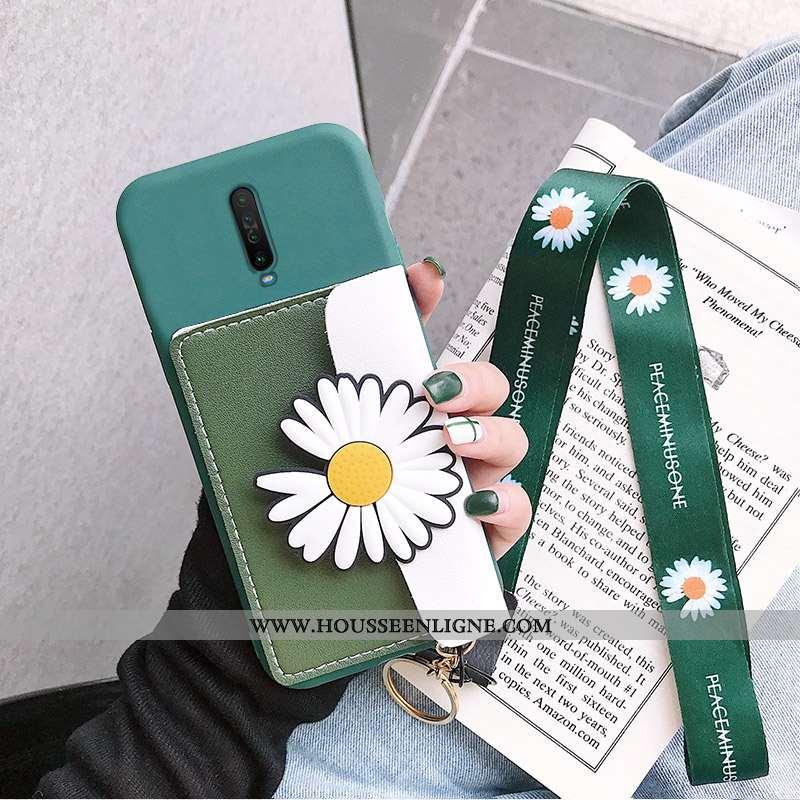 Étui Xiaomi Mi 9t Tendance Silicone Tout Compris Portefeuille Rouge Petite Marguerite Petit Jaune