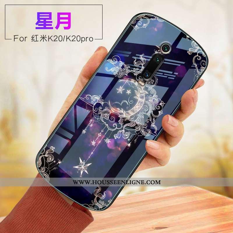 Étui Xiaomi Mi 9t Verre Fluide Doux Violet Rouge Incassable Coque