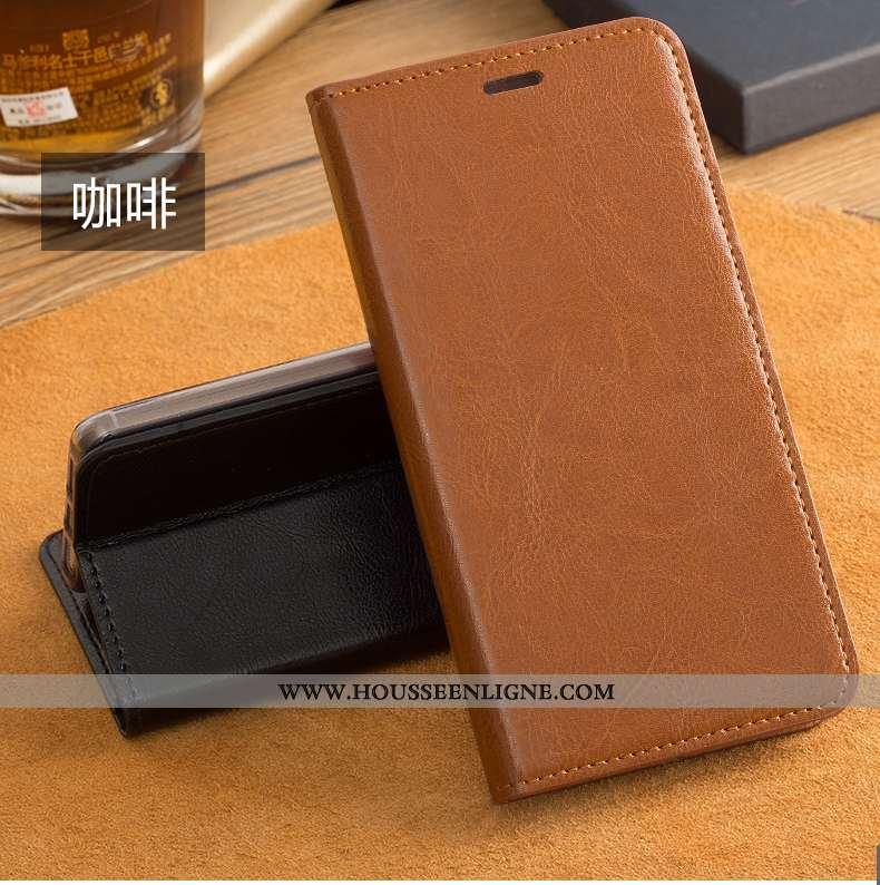 Étui Xiaomi Mi A1 Cuir Protection Rouge Coque Bovins Marron Housse