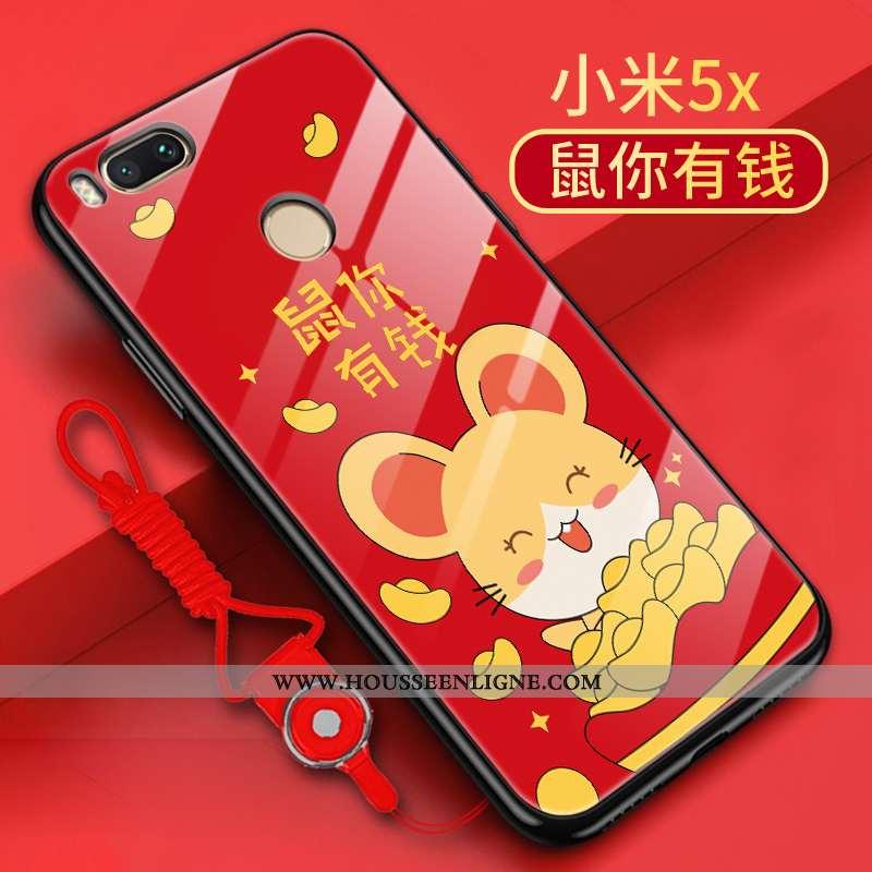 Étui Xiaomi Mi A1 Personnalité Créatif Rat Rouge Incassable Coque Tendance