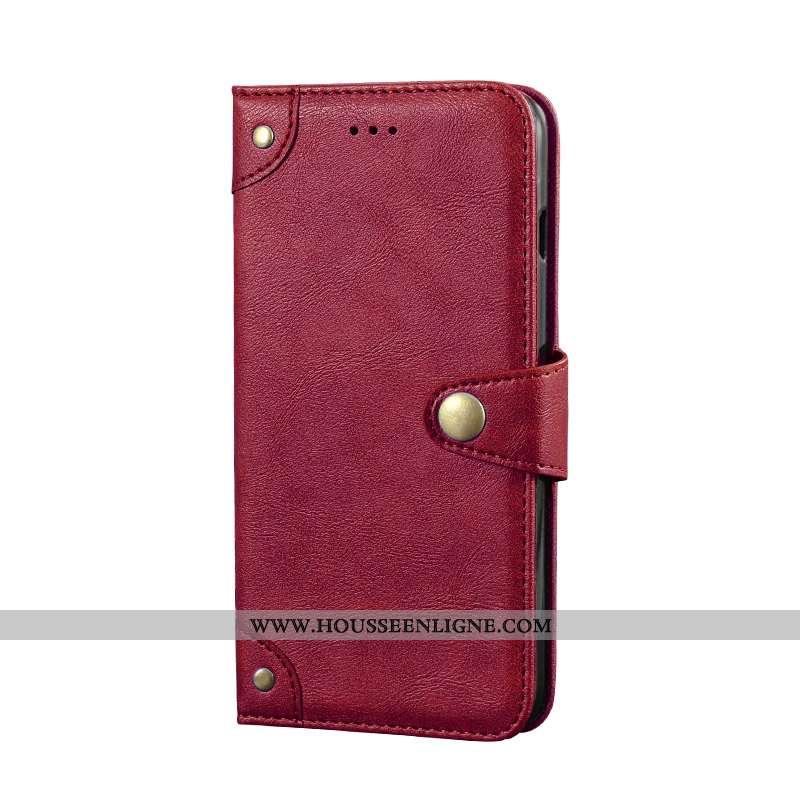 Étui Xiaomi Mi A2 Lite Créatif Portefeuille Vin Rouge Petit Téléphone Portable Coque Bordeaux