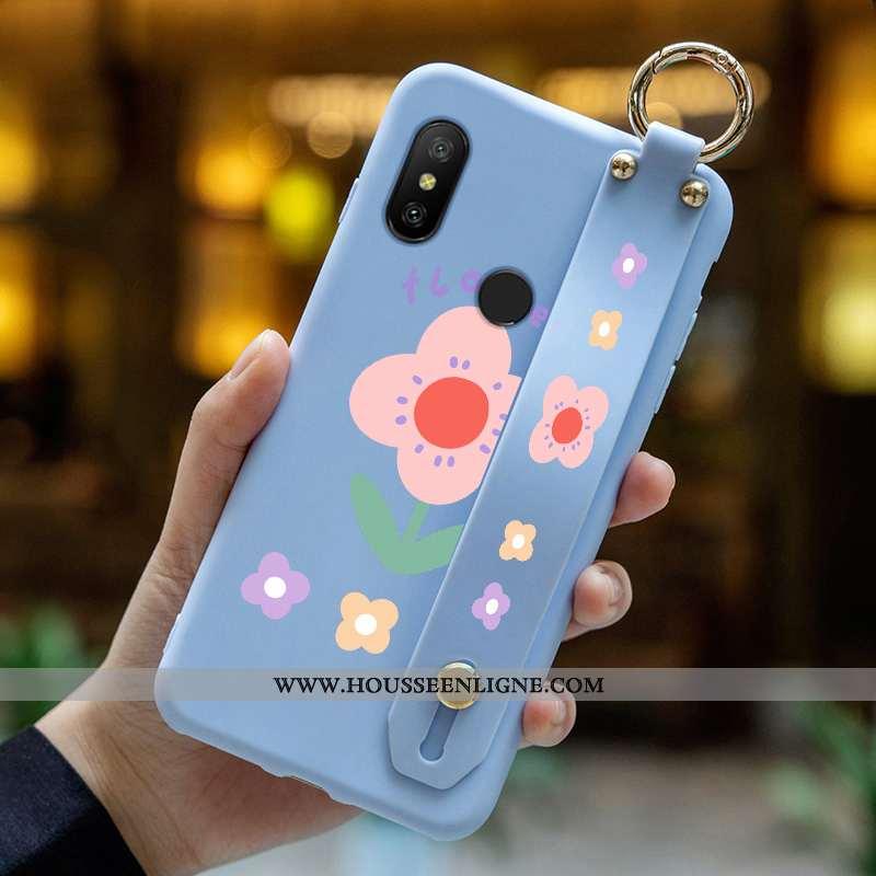 Étui Xiaomi Mi A2 Lite Dessin Animé Charmant Rouge Tout Compris Mode Incassable Bleu