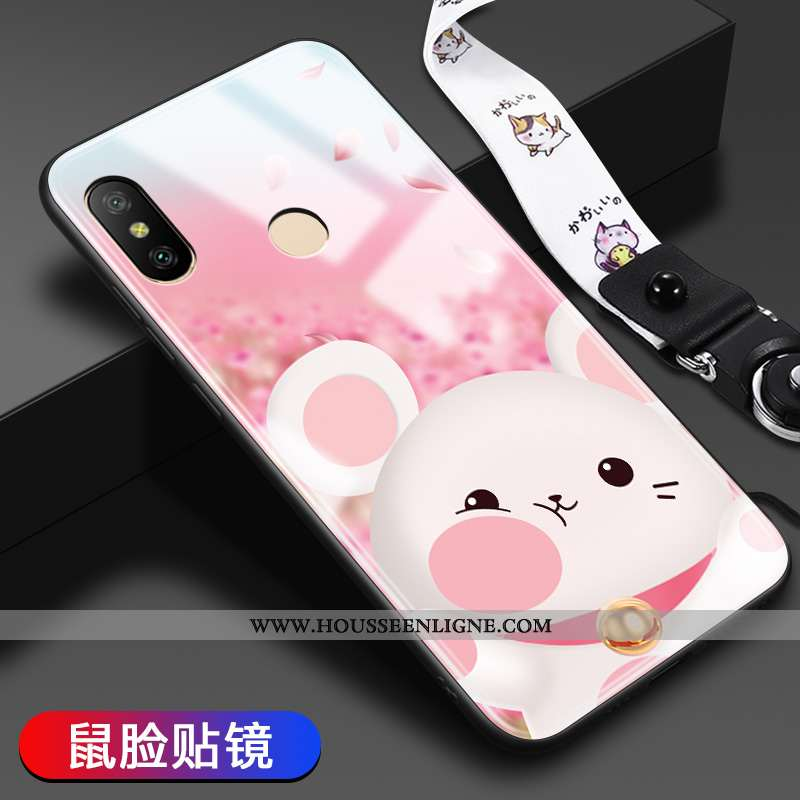 Étui Xiaomi Mi A2 Lite Dessin Animé Tendance Difficile Tout Compris Incassable Rose
