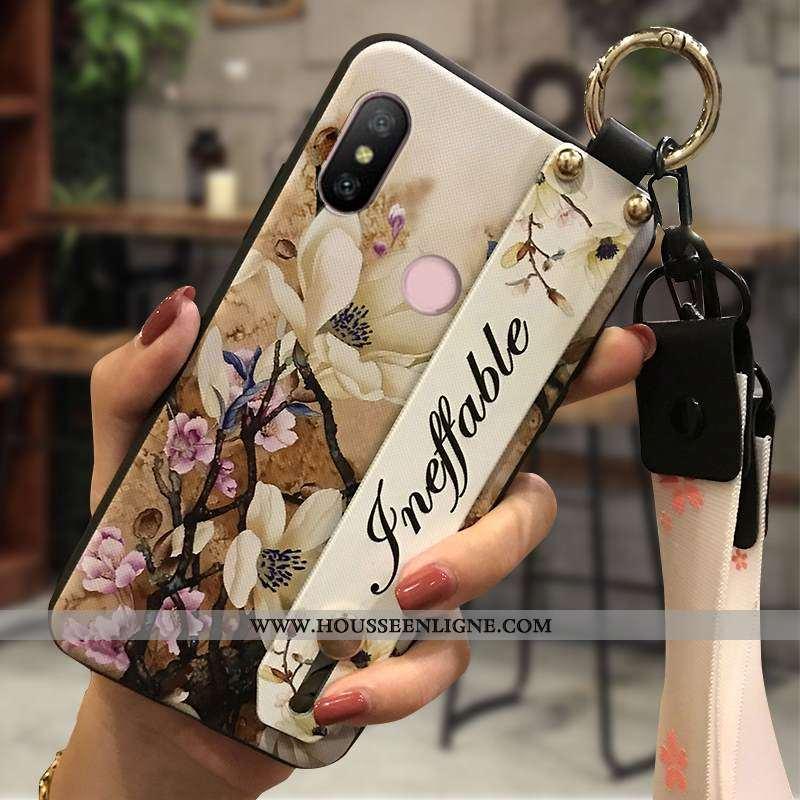 Étui Xiaomi Mi A2 Lite Fluide Doux Protection Téléphone Portable Ornements Suspendus Chaud Petit Jau