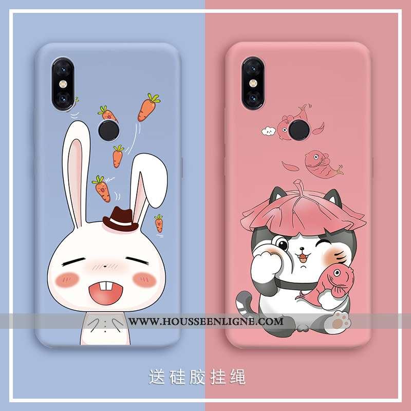 Étui Xiaomi Mi A2 Lite Légère Fluide Doux Amoureux Téléphone Portable Petit Vert Incassable Bleu