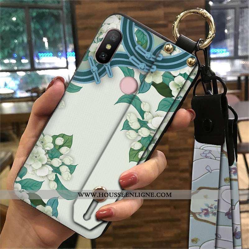 Étui Xiaomi Mi A2 Lite Protection Ornements Suspendus Petit Palais Vent Téléphone Portable Coque Ver