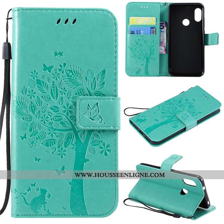 Étui Xiaomi Mi A2 Lite Silicone Protection Vert Petit Fluide Doux Incassable Cuir Verte