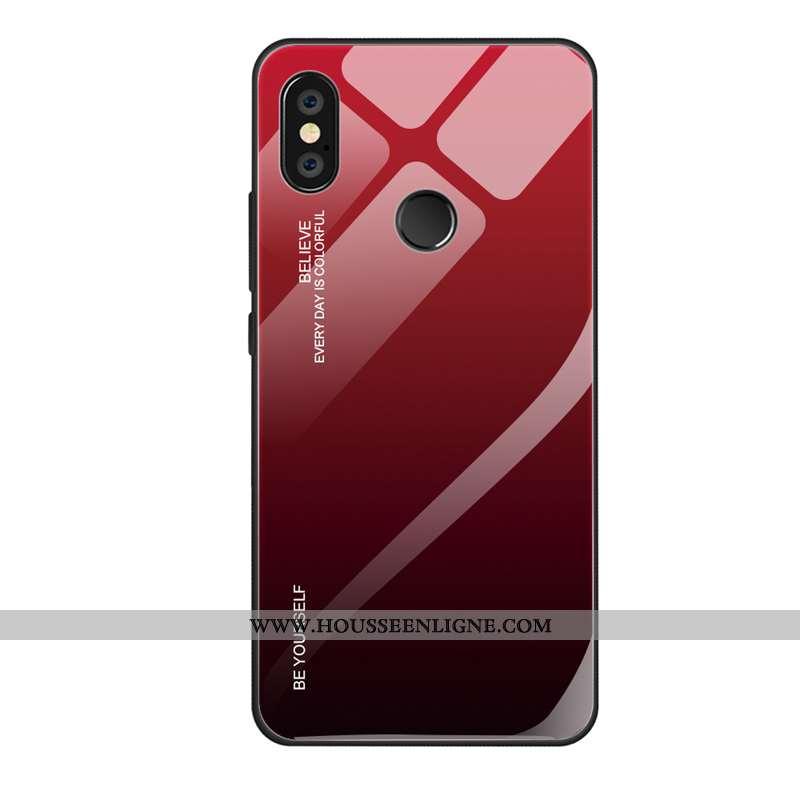 Étui Xiaomi Mi A2 Lite Tendance Fluide Doux Personnalité Rouge Créatif Tout Compris Délavé En Daim