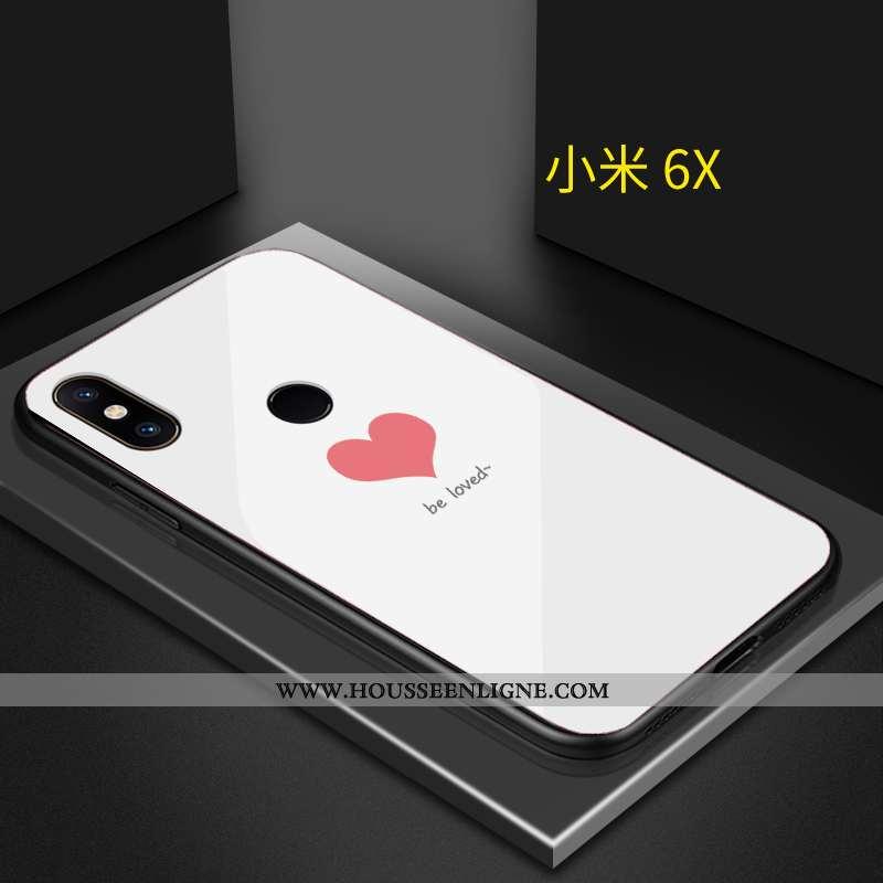 Étui Xiaomi Mi A2 Personnalité Créatif Amoureux Blanc Cœur Coque Blanche