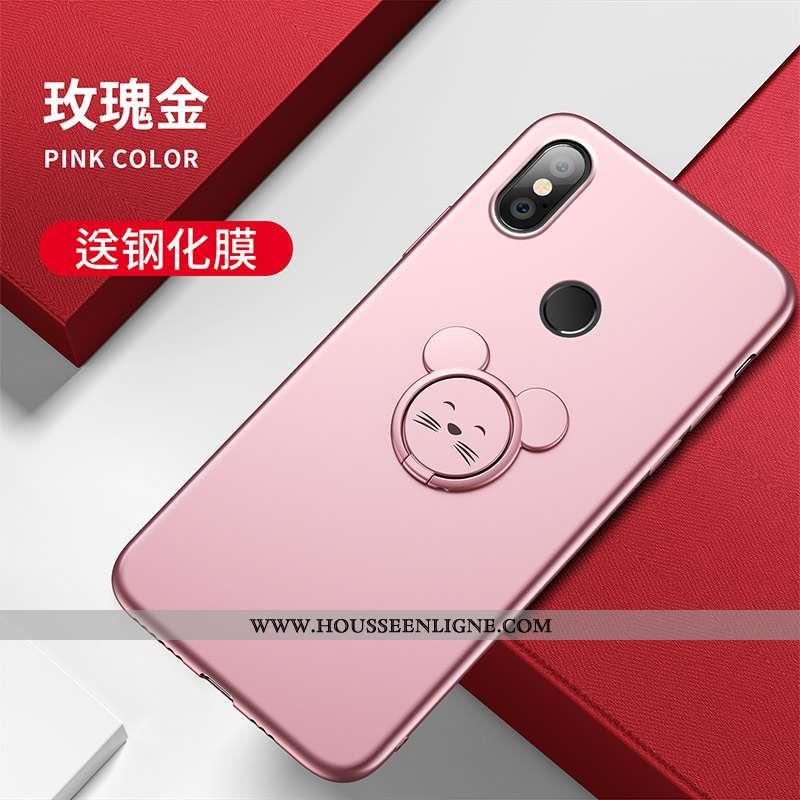 Étui Xiaomi Mi A2 Personnalité Créatif Protection Charmant Silicone Rat Rose