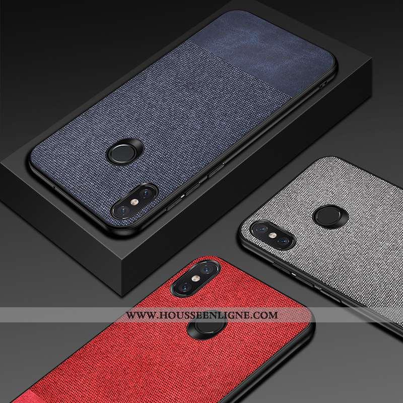 Étui Xiaomi Mi A2 Silicone Cuir Tout Compris Incassable Téléphone Portable Antidérapant Bleu