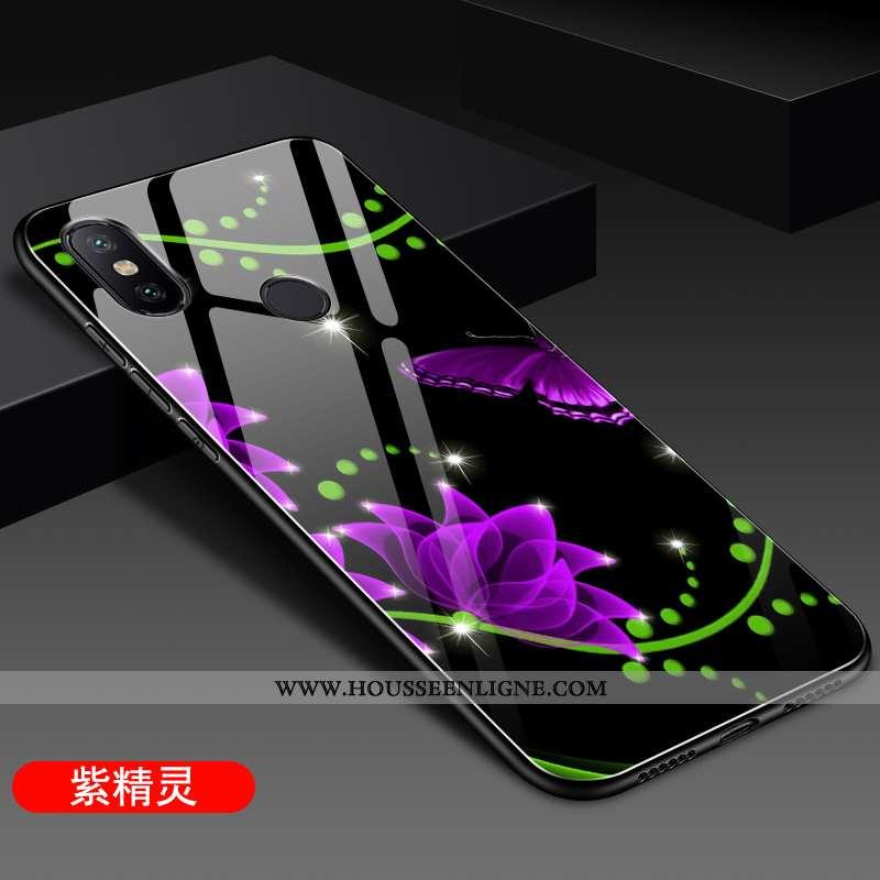 Étui Xiaomi Mi A2 Silicone Protection Difficile Fluide Doux Petit Coque Tendance Violet