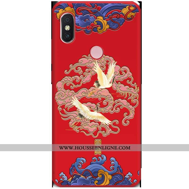 Étui Xiaomi Mi A2 Tendance Fluide Doux Tout Compris Téléphone Portable Petit Vent Rouge