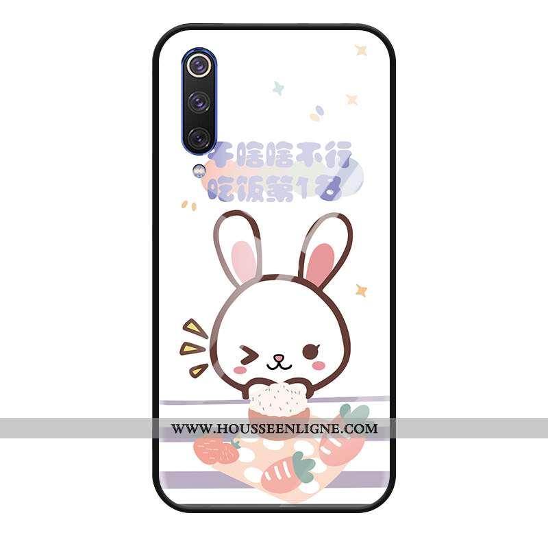 Étui Xiaomi Mi A3 Créatif Dessin Animé Cœur Tout Compris Petit Téléphone Portable Coque Blanche