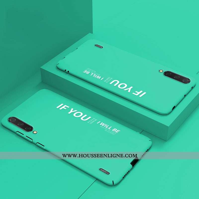 Étui Xiaomi Mi A3 Légère Délavé En Daim Amoureux Modèle Légères Personnalisé Téléphone Portable Vert