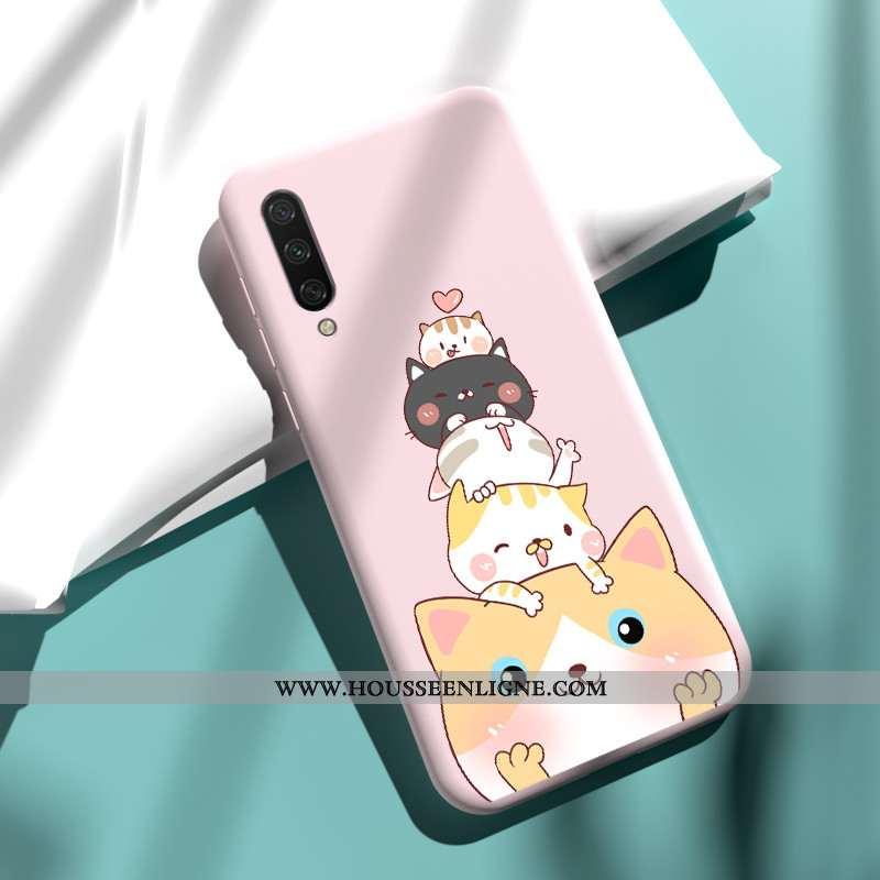 Étui Xiaomi Mi A3 Légère Fluide Doux Rose Incassable Silicone Téléphone Portable
