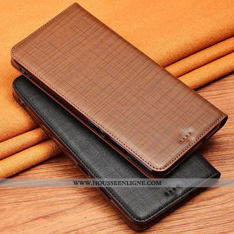 Étui Xiaomi Mi A3 Protection Cuir Véritable Fluide Doux Petit Coque Téléphone Portable Marron