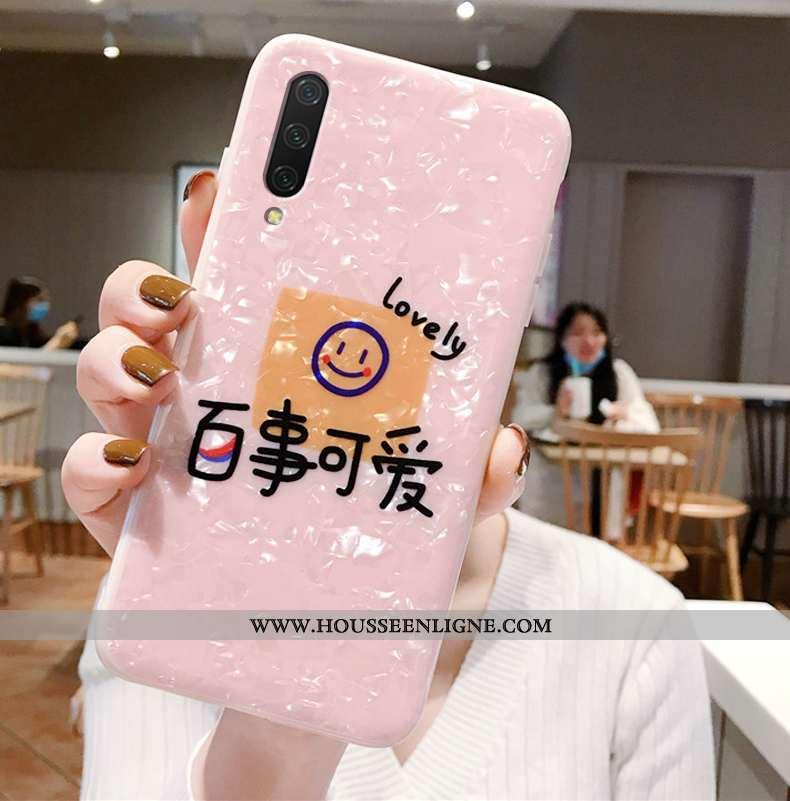 Étui Xiaomi Mi A3 Tendance Fluide Doux Silicone Téléphone Portable Rose Tout Compris Petit