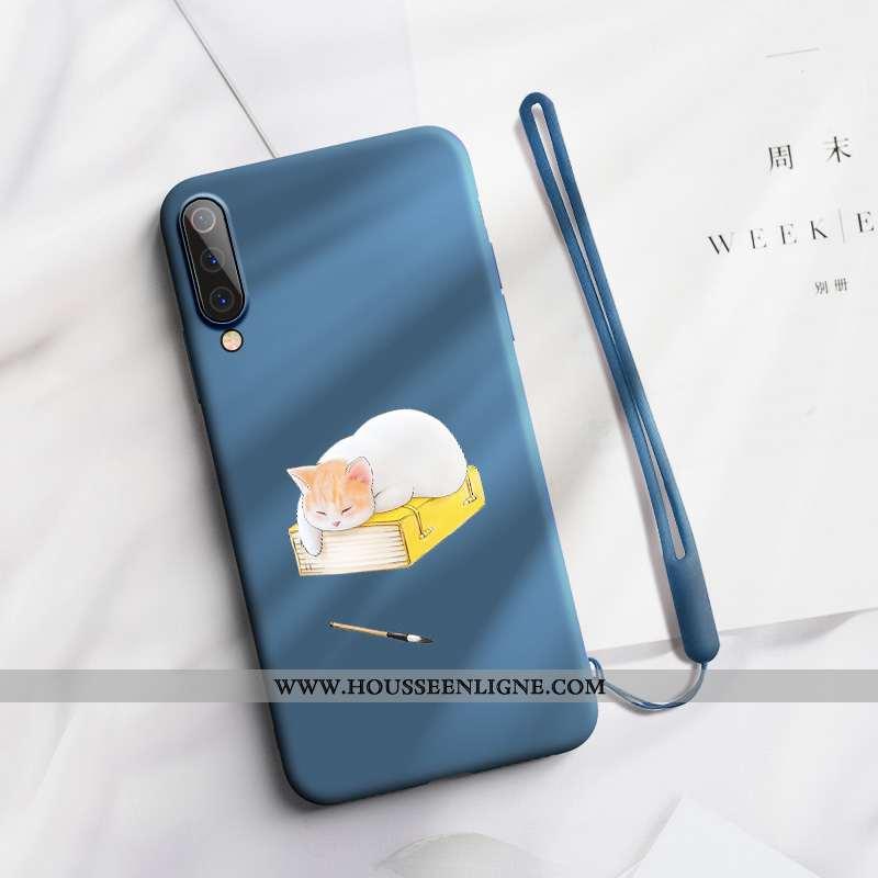 Étui Xiaomi Mi A3 Tendance Fluide Doux Simple Petit Nouveau Silicone Bleu Marin Bleu Foncé