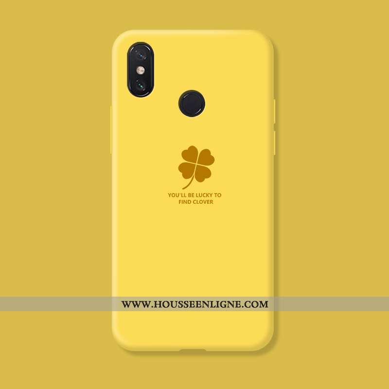 Étui Xiaomi Mi Max 3 Créatif Silicone Téléphone Portable Petit Coque Personnalité Incassable Jaune