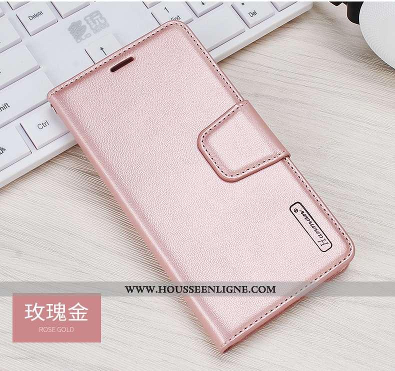 Étui Xiaomi Mi Max 3 Cuir Véritable Cuir Rouge Petit Business Incassable Coque Rose