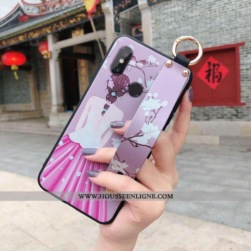 Étui Xiaomi Mi Max 3 Personnalité Tendance Téléphone Portable Incassable Mode Violet