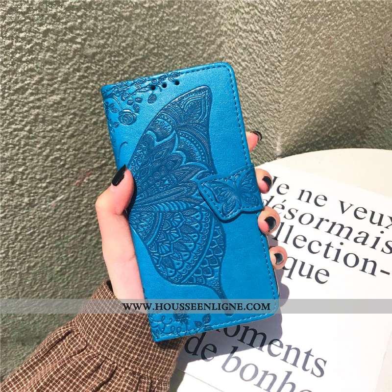 Étui Xiaomi Mi Max 3 Protection Cuir Bleu Petit Coque Téléphone Portable