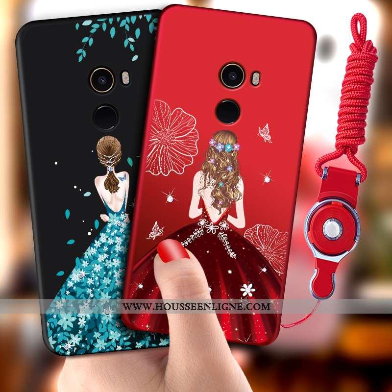 Étui Xiaomi Mi Mix 2 Fluide Doux Silicone Rouge Petit Téléphone Portable Protection