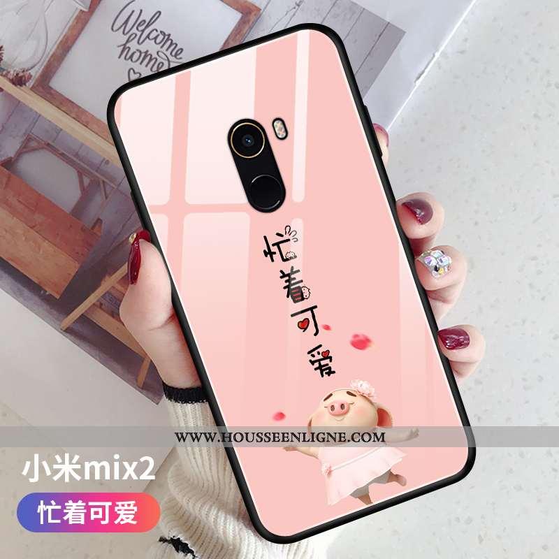 Étui Xiaomi Mi Mix 2 Tendance Légère Téléphone Portable Nouveau Ultra Silicone Fluide Doux Rose