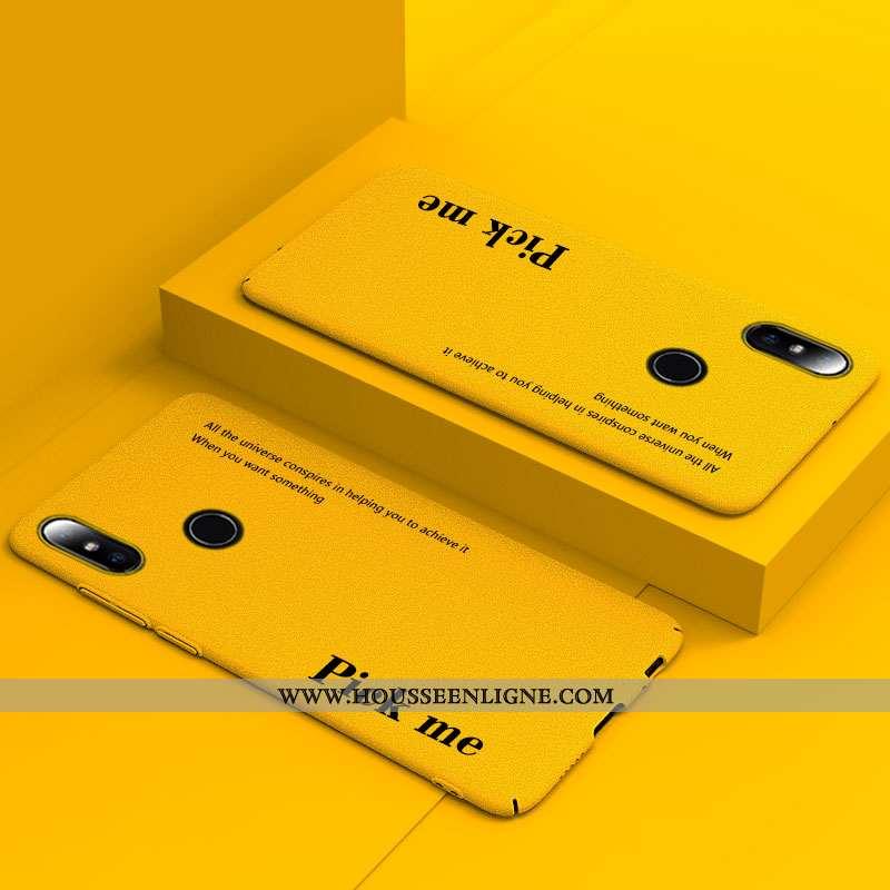 Étui Xiaomi Mi Mix 2s Délavé En Daim Personnalité Incassable Net Rouge Petit Ultra Amoureux Jaune