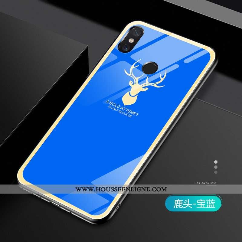 Étui Xiaomi Mi Mix 2s Légère Fluide Doux Tendance Amoureux Coque Téléphone Portable Silicone Bleu