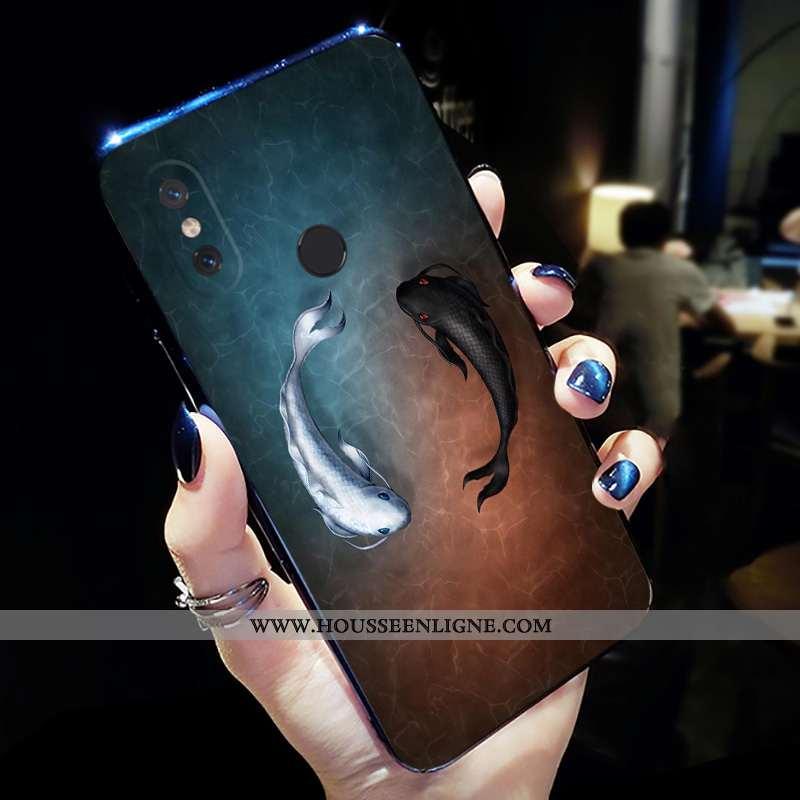 Étui Xiaomi Mi Mix 2s Protection Personnalité Silicone Net Rouge Coque Bleu Marin Tout Compris Bleu