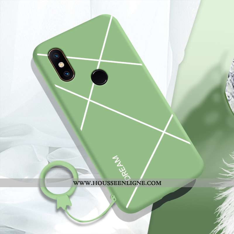 Étui Xiaomi Mi Mix 2s Silicone Protection Charmant Coque Tendance Petit Fluide Doux Verte