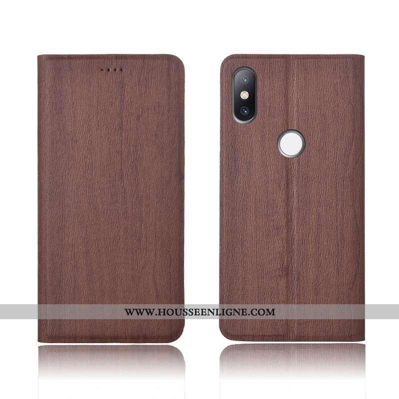 Étui Xiaomi Mi Mix 2s Silicone Protection Incassable Cuir Téléphone Portable Fluide Doux Modèle Fleu