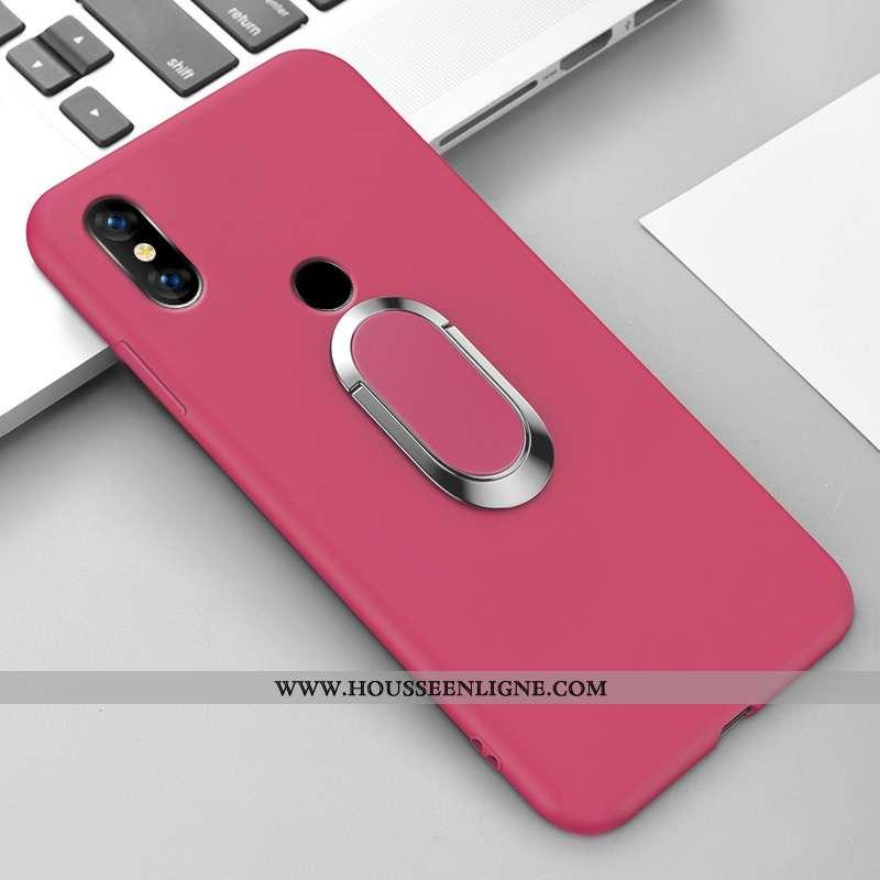 Étui Xiaomi Mi Mix 3 Créatif Ultra Amoureux Couleur Unie Support Net Rouge Légère