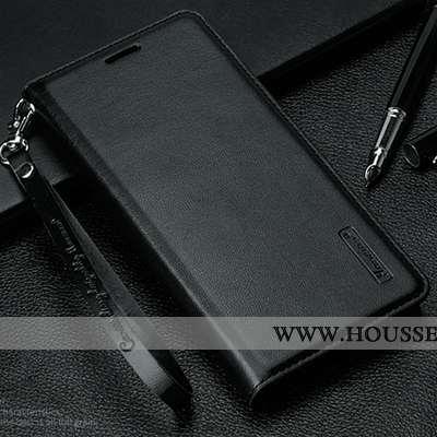 Étui Xiaomi Mi Mix 3 Cuir Ornements Suspendus Téléphone Portable Noir Petit Rouge
