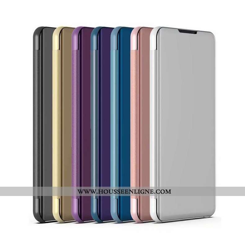 Étui Xiaomi Mi Mix 3 Cuir Placage Téléphone Portable Coque Argent Support
