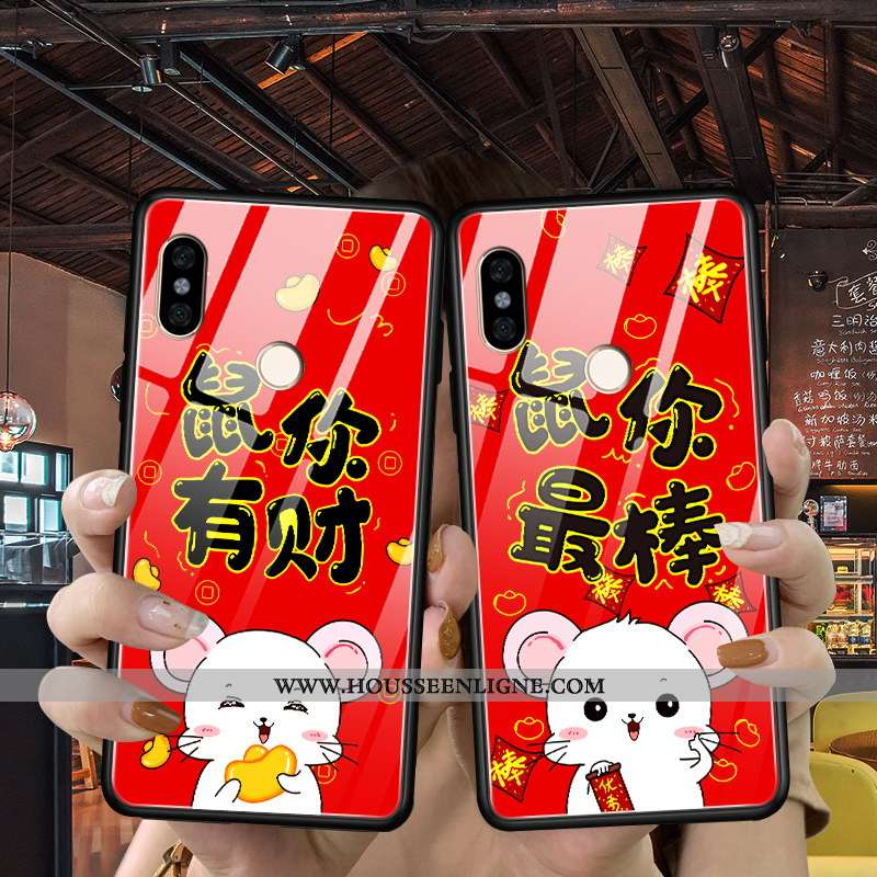 Étui Xiaomi Mi Mix 3 Fluide Doux Silicone Incassable Difficile Petit Tendance Nouveau Rouge
