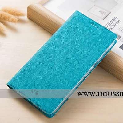 Étui Xiaomi Mi Mix 3 Modèle Fleurie Protection Housse Incassable Tissu Cuir Petit Bleu