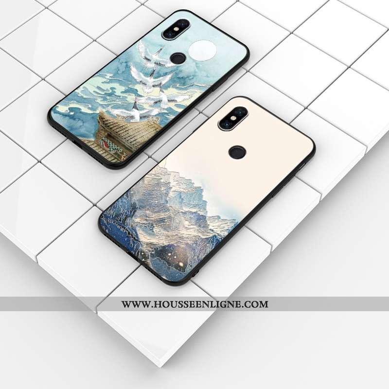 Étui Xiaomi Mi Mix 3 Silicone Protection Personnalisé Personnalité Bleu Tout Compris Téléphone Porta