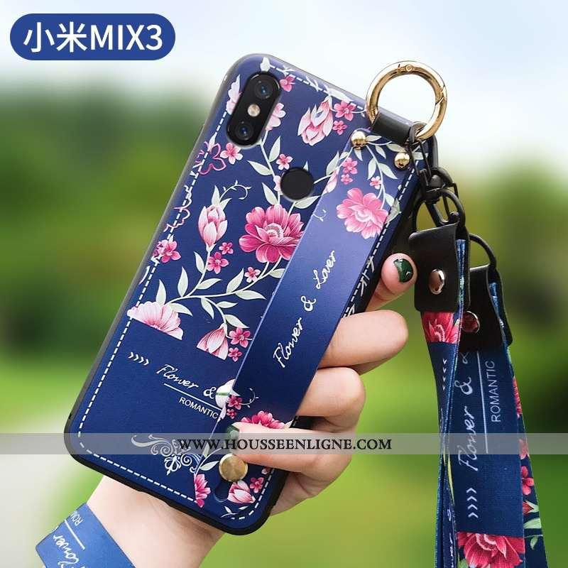 Étui Xiaomi Mi Mix 3 Tendance Légère Fluide Doux Mode Net Rouge Bleu Marin Ultra Bleu Foncé