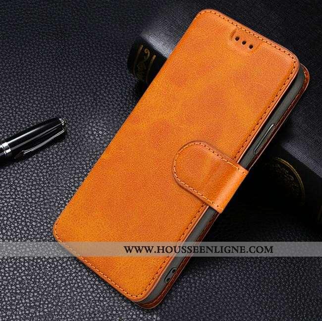 Étui Xiaomi Mi Note 10 Cuir Protection Incassable Légère Ultra Simple Jaune