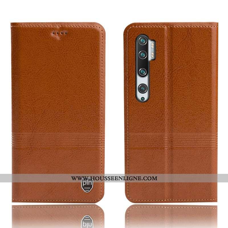 Étui Xiaomi Mi Note 10 Cuir Véritable Protection Tout Compris Incassable Téléphone Portable Petit Ma